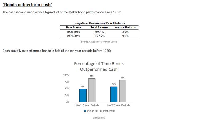 Cash as a diversifier