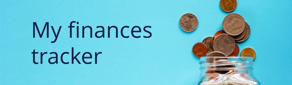 My finances tracker banner 5